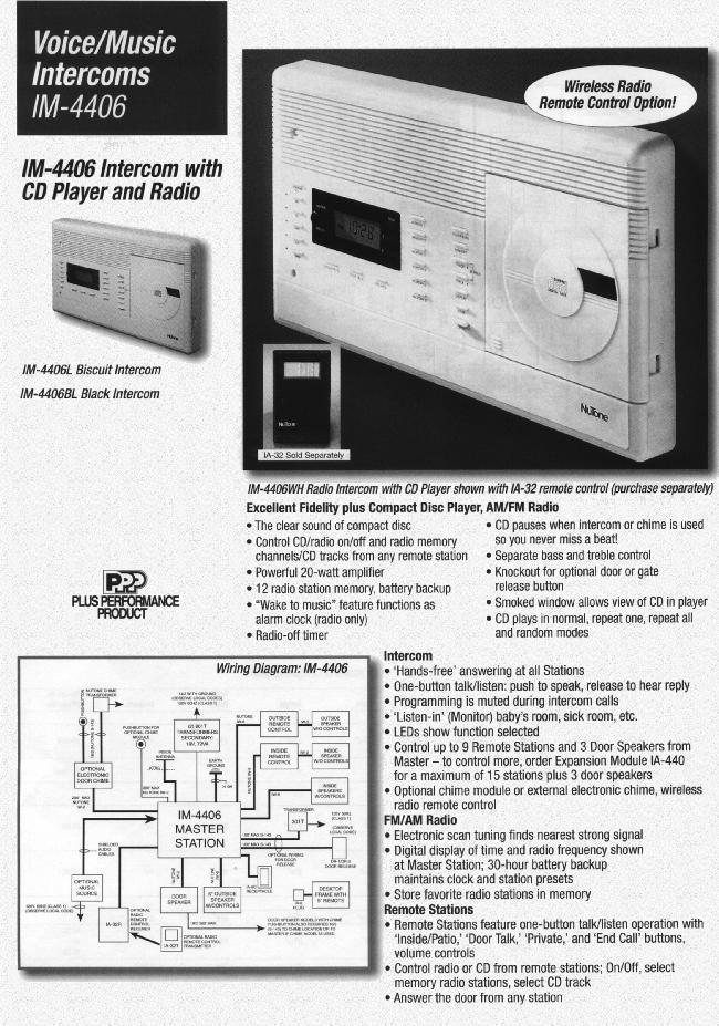 Famous Nutone Intercom Wiring Diagram Illustration - Everything You ...