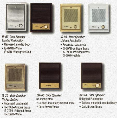 Nutone Intercom Speakers