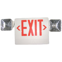 L/A UQLXN500R-2SQR SELF CONT LED EXIT W/2 ADJUST HEADS REMOTE CAPABILITY