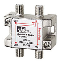 IDEAL 85-333 3-WAY 2 GHZ SPLITTER DIGITAL / SATELITE