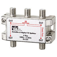 IDEAL 85-334 4-WAY 2 GHZ SPLITTER DIGITAL / SATELITE