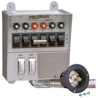 RELIANCE 20216A (REPLACES 20216) 20 AMP 5000W 6-CIRCUIT GENERATOR TRANSFER SWITCH