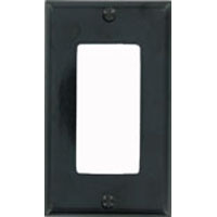 LEV 80401-E 1G BLK DECORA PLATE
