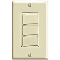 LEV 1755-I 3 ROCKER SWITCHES IN ONE IVORY