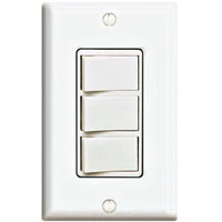 LEV 1755-W 3 ROCKER SWITCHES IN ONE WHITE