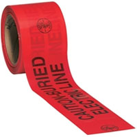 "ACE 3"" RED CAUTION TAPE-1000' RED DIRECT BURIAL TAPE"