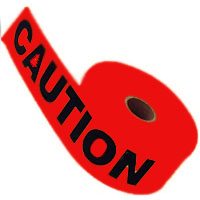 """ACE 6"""" RED CAUTION TAPE RED CAUTION 6""""X1000'"""