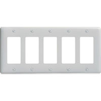 HUW NP265W WALLPLATE 5-G 5) RECT WH