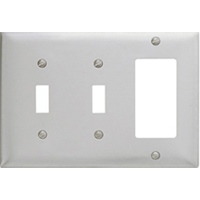 HUW SS226 WALLPLATE 3-G SW/SW/GFCI SS