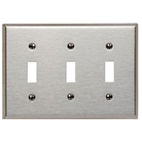 LEV 84011 3G SS SWITCH PLATE