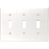 LEV 88011 3G WHT SWITCH PLATE