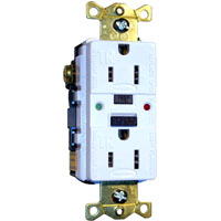 HUW GFTR15 15A 125V COMM LED TAMPER-RES GFCI BR