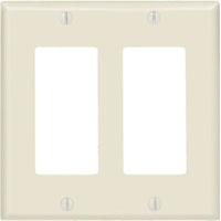 LEV 80409-E 2G BLK WALLPLATE