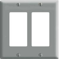 LEV 80409-GY 2G GRY WALLPLATE