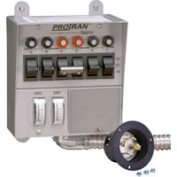 RELIANCE 30216A (REPLACES 30216) 30 AMP 7500W 6-CIRCUIT GENERATOR TRANSFER SWITCH